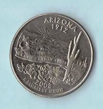 2008 D Arizona State Washington Quarter - Circulated Light  Wear - $1.25