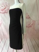 RALPH LAUREN BLACK WHITE DRESS SIZE 8 COLORBLOCK JERSEY  - $30.00