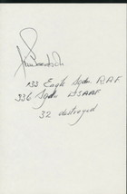 Jim Goodson signed card.U.S WWII Ace. RAF. 336th FS..P-47. P-51. 32 tota... - $9.95