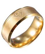 Ing   men women superman stainless steel titanium band ring wedding engagement size 12 thumbtall