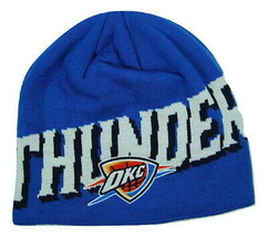 Oklahoma City Thunder OKC adidas Oversized Logo NBA Basketball Knit Hat ... - $18.99