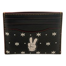 NWT COACH DISNEY Mickey Slim Card Case Money Wallet Bandana Print F87132... - $71.06