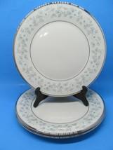 "Lenox China Windsong Pattern Platinum 10.5"" Dinner Plates Bundle of 3 EUC - $41.16"