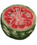 Chair Pad Watermelon Fruit Set 4 Wool Yarns New Hand-Hooked - $129.00