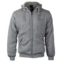 Men's Premium Athletic Soft Sherpa Lined Fleece Zip Up Hoodie Sweater Jacket image 7
