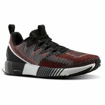Reebok Men Running Fusion Flexweave Shoes Black/Grey/White/Primal Red Tr... - $119.68