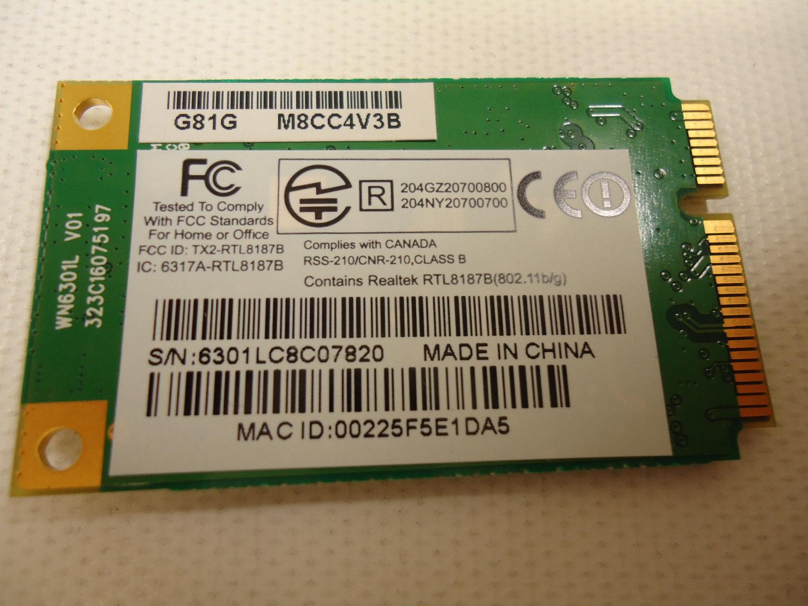 Toshiba Satellite L455-S5000 Wireless Card WiFi Adapter RTL8187B image 2
