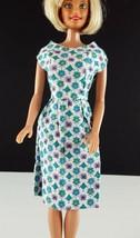 Barbie OOAK Handmade Cotton Print Sleeveless Dress w/ Coat 1960s Clothing - $19.79