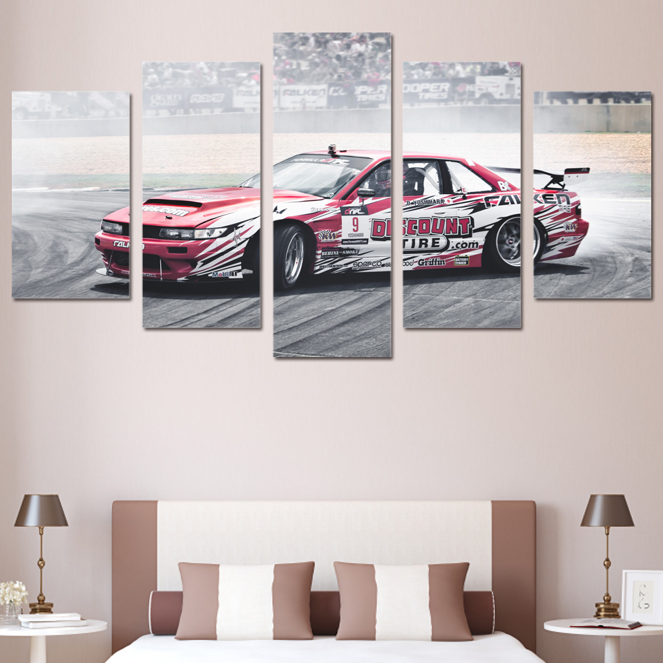 nissan silvia s13 jdm car 5 piece canvas wall art poster