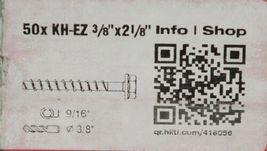 "Hilti 418056 KH EZ Concrete and Masonry Screw Anchor Silver 3/8"" x 2 1/8"" 50 pcs image 4"