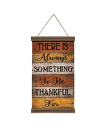 Wood look Style Always Something to be Thankful For Banner 23X12 - $39.99