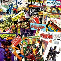 Marvel Comic Book Lot 15 Issues 1980's to Now Grab Bag X-Men Spider-Man ... - $24.70