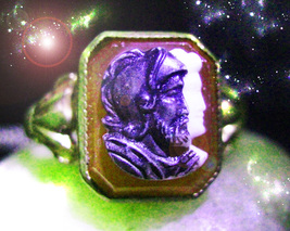 HAUNTED ANTIQUE RING THE SACRED KNIGHT OF BATTLE DEFEND & WIN MAGICK POWER  - $9,177.77