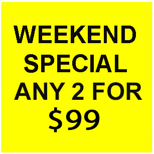 Primary image for FRI - SJN WEEKEND FLASH SALE! PICK ANY 2 FOR $99  BEST OFFERS DISCOUNT
