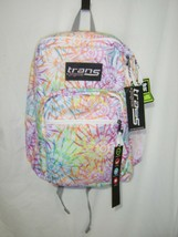 TRANS KIDS BACKPACK BY JANSPORT SUPERMAX TIE DIZZLE WHITE NWT :B19-5 - $27.75