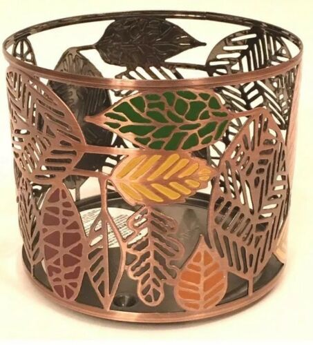 Bath /& Body Works  GOLD AUTUMN LEAVES  MULTI WICK CANDLE HOLDER