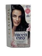Clairol Nice 'N Easy Permanent Hair Color #2 Black 100% Gray Coverage B3 1 Box  - $18.80