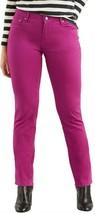 Levi 505 Jeans-Magenta Raspberry Straight Leg Stretch Denim Mid Rise $45 New - $24.97