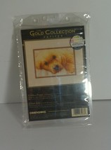 """Dimensions Gold Collection Cross Stitch Kit Golden Puppy #65038 7""""x5"""" - $9.69"""