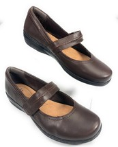 Clarks Evianna Cozy Mary Jane Leather Wedge Cushion Soft Brown Shoes Wom... - $29.96