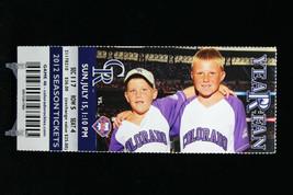 Colorado Rockies vs Philadelphia Phillies MLB Ticket w Stub 07/15/2012 Year Fan - $8.17