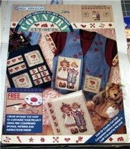 Daisy Kingdom Country Cut Outs Raggedy Pals No Sew Applique #C123-1681-010 - $8.99