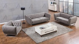 American Eagle AE-2368 Gray Fabric Sofa Set 3pcs in Modern Style - $1,830.00