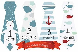Monthly Milestone Stickers Boy - Best for Baby Shower Gift 12 Months - $5.77