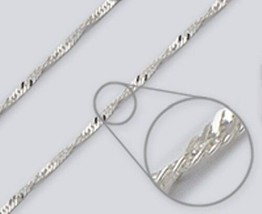 Wave Chain Necklace -- 2.4mm*, 16 inch* -- Sterling Silver (Made in Italy) - $10.31