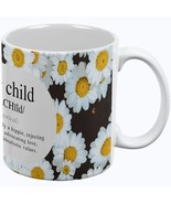 Flower Child Definition Daisies All Over Coffee Mug - $16.95