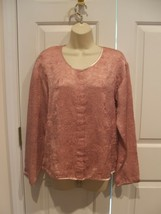 Nwt Newport News Rose Embossed Pink Oriental Style Jacket Made In Usa Size 6 - $27.71