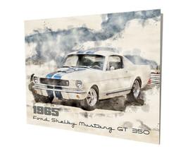 1965 Ford Shelby Mustang GT 350 Muscle Car Art Design 16x20 Aluminum Wall Art - $59.35