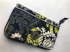 Vera Bradley Black & Yellow Clutch Wallet Purse - $18.69