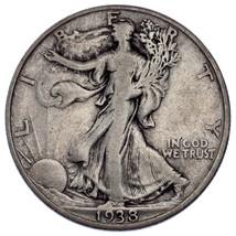 1938-D 50C Walking Liberty Half Dollar Fine Condition, Natural Color Nic... - $79.19