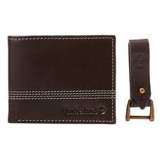 Timberland Men's Leather Billfold Contrast Stitch Wallet w/ Key Chain NP0366/01 image 1