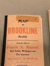 Walker & Co. Antique 1903 Lot Brookline Boston Road Map Cyclist Iver Johnson image 12
