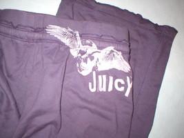 EUC Womens Large Juicy Couture Pants Purple L Pockets Skull Wings Logo 32 inseam image 1