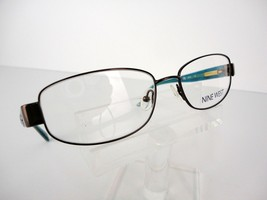 Nine West NW 1022  (200)  Brown / Teal 53 X 16 135 mm Eyeglass Frame - $51.96