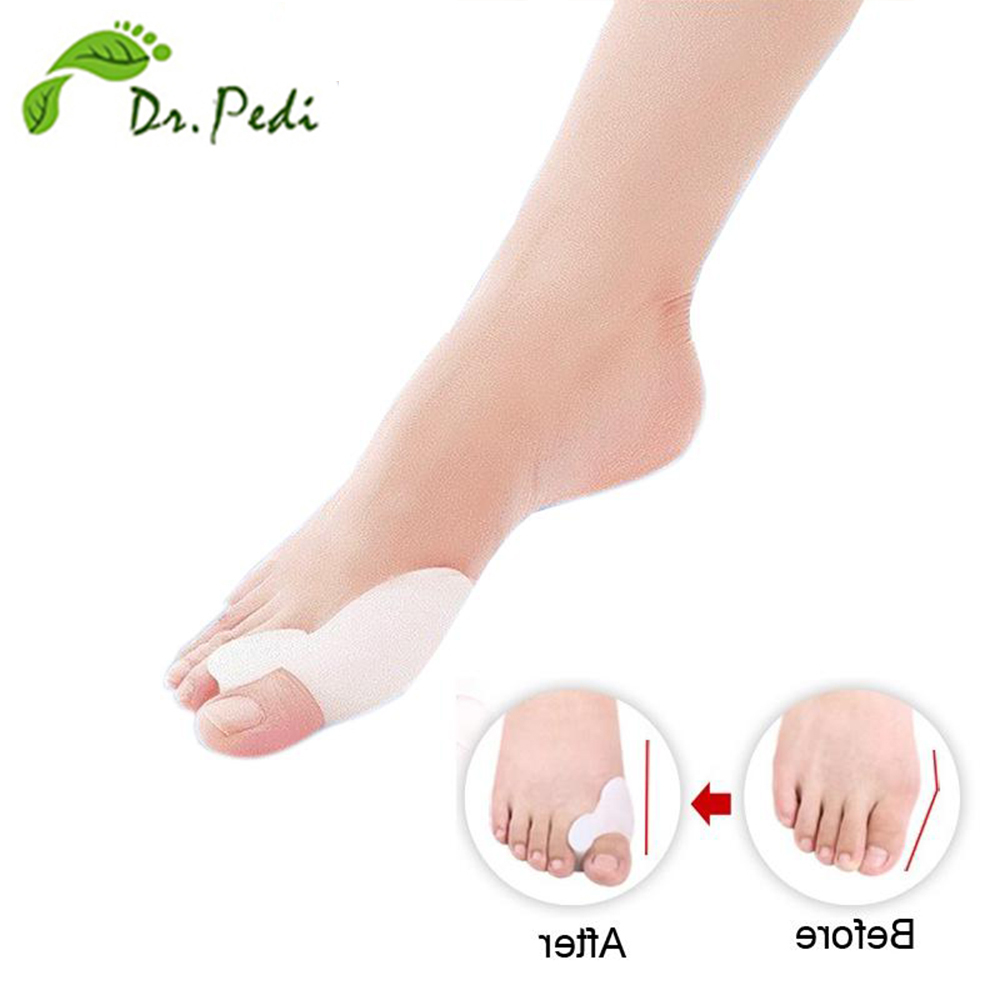 Hot selling hallux valgus pro feet care toe seperator pies gel bunion guard toe pillow corrector