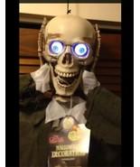Life Size ANIMATED SEVERED HEAD TALKING SKELETON SKULL Halloween Prop De... - $66.47