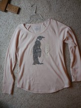 Penguin Long Sleeved Crew Light Pink Top Gold Accents NWT Sonoma - $17.00