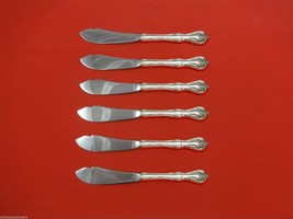 Rose Cascade by Reed and Barton Sterling Silver Trout Knife Set 6pc. Custom - $366.80