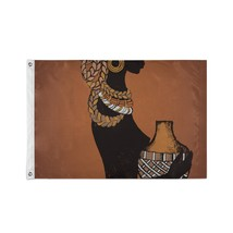 Custom Decor Flags Beautiful Black Woman African Decorate Flags - $24.99