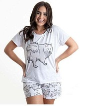 Dog Samoyed pajama set with shorts for women - $30.00