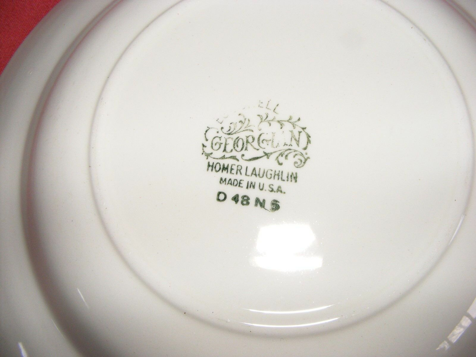 "2 Homer Laughlin Wedgwood 8.25"" Rimmed Soup Bowls Eggshell Georgian USA"