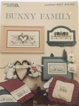 Leisure Arts Bunny Family Counted Cross Stitch Patterns Leaflet 607 Spring - $3.00