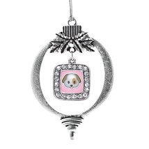 Inspired Silver Puppy Emoji Classic Holiday Christmas Tree Ornament - $14.69