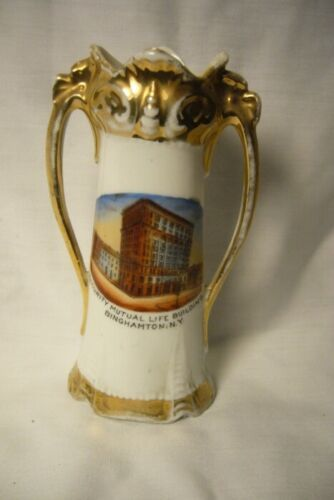 Vintage Antique Security Mutual Binghamton NY Vase