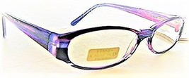 Foster Grant Claudia Women's Purple Oval Handmade Reading Glasses +2.50 - $19.99