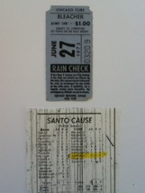 Ticket From Expos at Chicago Cubs-June 27, 1973-Fergie Jenkins, Ron Santo - $9.32